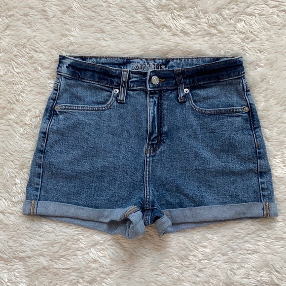wild fable High-Rise Rolled Cuff Jeans Shorts